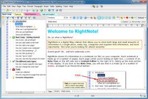 RightNote - náhled