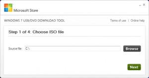 Windows 7 USB/DVD Download Tool - náhled