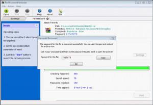 RAR Password Unlocker - náhled