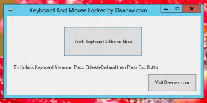 Keyboard And Mouse Locker - náhled