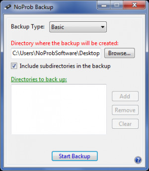 NoProb Backup - náhled