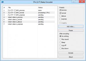 Baka Encoder - náhled