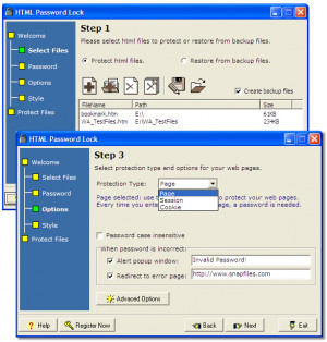 HTML Password Lock - náhled