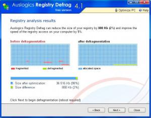 Registry Defrag - náhled