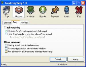 TrayEverything - náhled