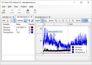 Flow CSV Viewer - náhled