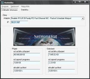 NetMon&Stat - náhled