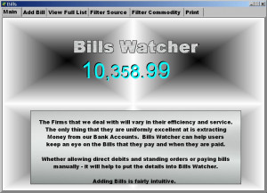 Bills Watcher - náhled