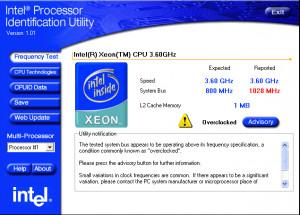 Intel Processor Identification Utility - náhled