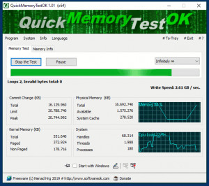 QuickMemoryTestOK - náhled