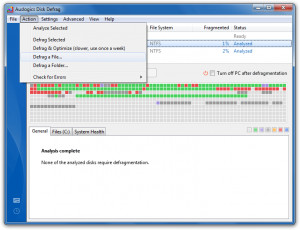 Auslogics Disk Defrag - náhled