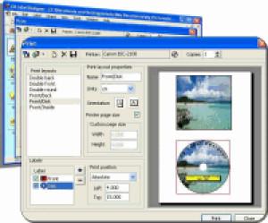 CD Label Designer - náhled