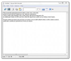 Secure Edit Unicode - náhled