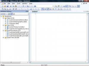 Universal SQL Editor - náhled
