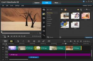 VideoStudio Pro X8 - náhled
