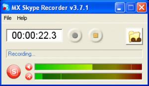 MX Skype Recorder - náhled