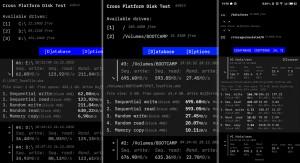 Cross Platform Disk Test - náhled