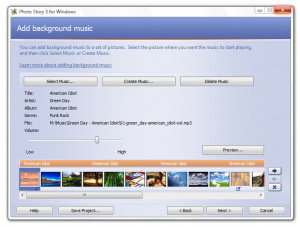 Microsoft Photo Story - náhled