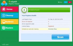 Amigabit Registry Cleaner - náhled