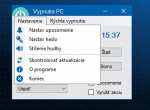 Vypnutí PC - náhled