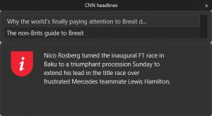CNN widget - náhled