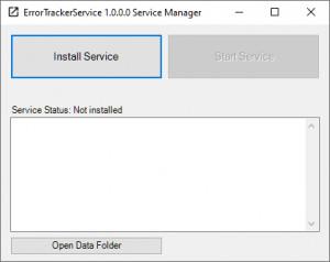 ErrorTracker Server - náhled
