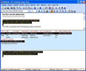 PC Translator - náhled