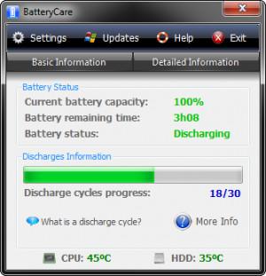 BatteryCare - náhled