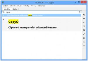 CopyQ - náhled