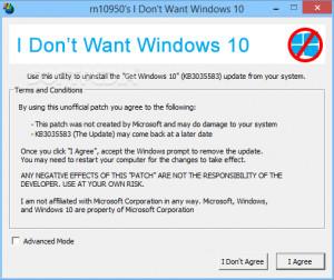 I Don't Want Windows 10 - náhled