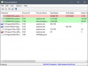 FileActivityWatch - náhled