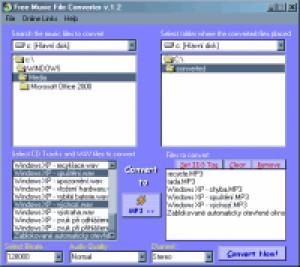 Free Music File Converter - náhled