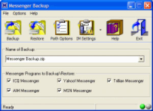 Messenger Backup - náhled