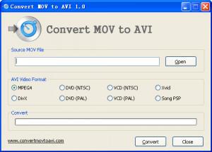 Convert MOV to AVI - náhled