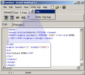 DzSoft WebPad - náhled
