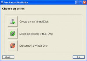 Virtual Disk Utility - náhled