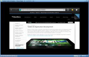 BlackBerry PlayBook Simulator - náhled