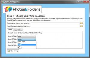 Photos2Folders - náhled