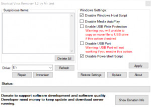 Shortcut Virus Remover - náhled