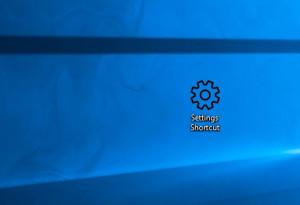 Windows 10 Settings Shortcut - náhled