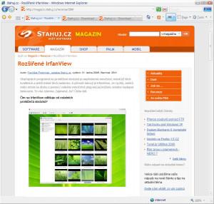 Internet Explorer 7 - náhled