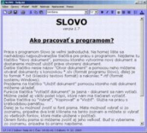 SLOVO - náhled