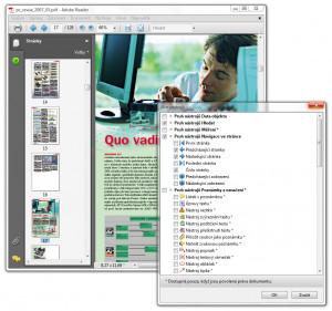 Adobe Reader - náhled