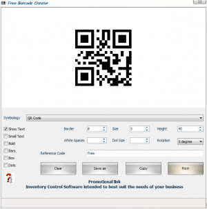 Free Barcode Creator - náhled