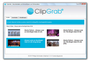 ClipGrab - náhled