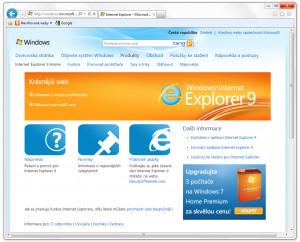 Internet Explorer 9 - náhled