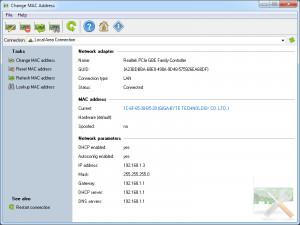 Change MAC Address - náhled