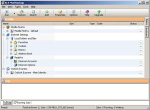 KLS Mail Backup - náhled