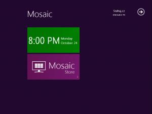 Mosaic desktop - náhled