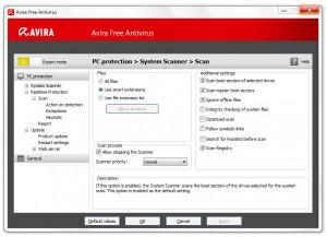 Avira Free Antivirus - náhled